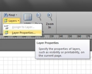Visio Layers on the ribbon