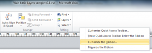 Visio Customize the Ribbon