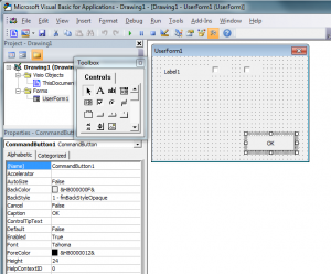 Visio add User Form Controls 2