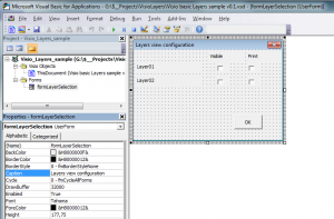 Visio layers view selection User Form