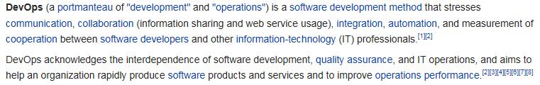 Wikipedia DevOps