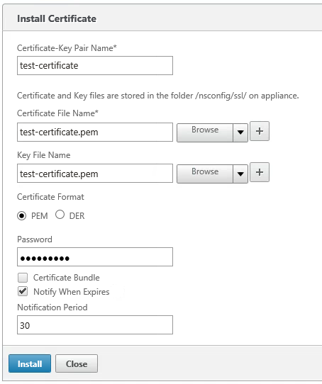 Adding SSL certificates on the NetScaler – PepperCrew