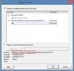 vSphere 5 Hypervisor License